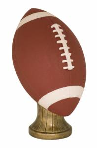 "11"" Hand Painted Lifesize Football Resin"