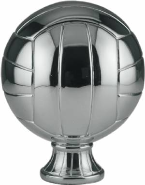 "5 1/2"" Silver Metallized Volleyball Resin"
