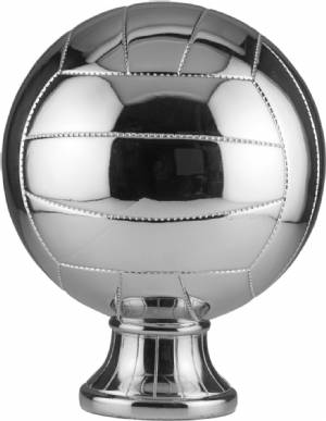 "10 1/2"" Silver Metallized Volleyball Resin"