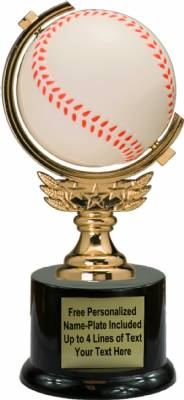 "7"" Spinning Soft - Baseball Trophy Kit with Pedestal Base"