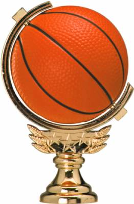 "Gold 5"" Spinning Soft - Basketball figure"