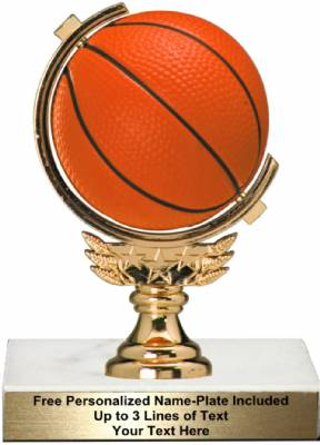 "5 3/4"" Spinning Soft - Basketball Trophy Kit"