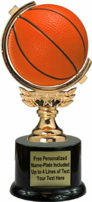 "7"" Spinning Soft - Basketball Trophy Kit with Pedestal Base"