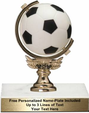 "5 3/4"" Spinning Soft Soccer Ball Trophy Kit"