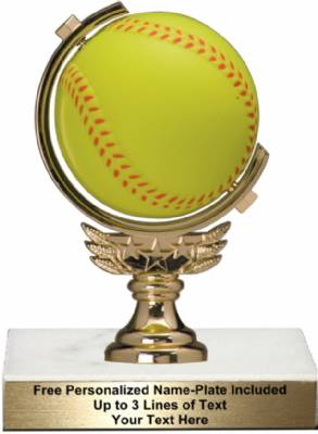 "5 3/4"" Spinning Soft - softball Trophy Kit"