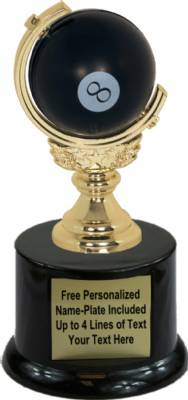 "5 1/2"" Spinning Soft - 8 ball Trophy Kit with Pedestal Base"