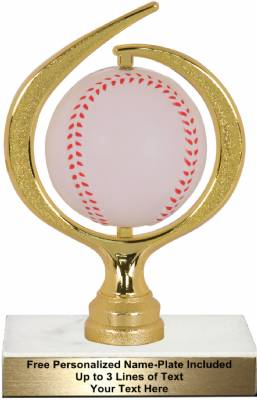 "6 3/4"" Spinning Soft - Baseball Trophy Kit"