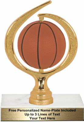"6 3/4"" Spinning Soft - Basketball Trophy Kit"