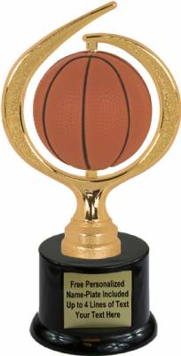 "8"" Spinning Soft - Basketball Trophy Kit with Pedestal Base"