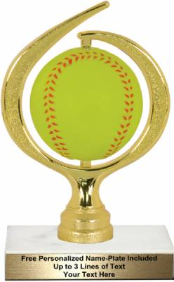 "6 3/4"" Spinning Soft - Softball Trophy Kit"