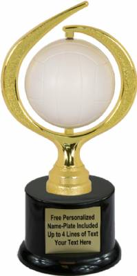 "8"" Spinning Soft - Volleyball Trophy Kit with Pedestal Base"