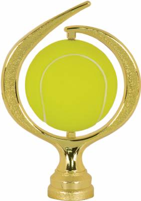 "Gold 6"" Spinning Soft - Tennis Trophy Figure"