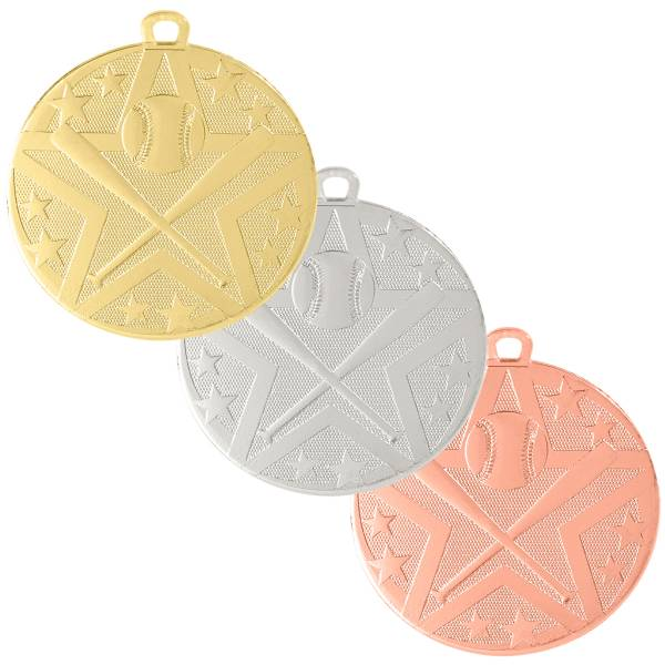 "2"" Baseball / Softball StarBurst Series Medal"