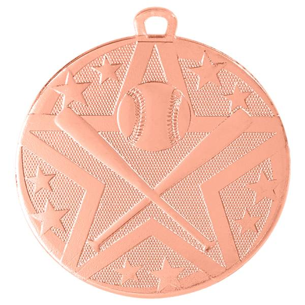 "2"" Baseball / Softball StarBurst Series Medal #4"