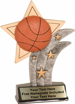 "7"" Basketball Sport Star Resin Trophy"