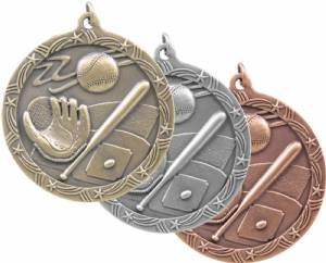 "Shooting Star 2 1/2"" Award Medal (Baseball)"
