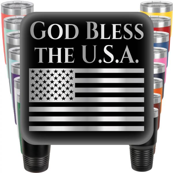 God Bless the U.S.A. Engraved Tumbler