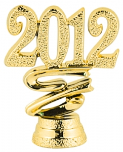 "2"" ""2012"" Year Date Trophy Trim Piece"