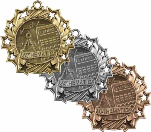 Ten Star Series Math Award Medal
