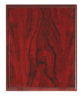 12 X 15 Red Woodgrain Finish Plaque Blank