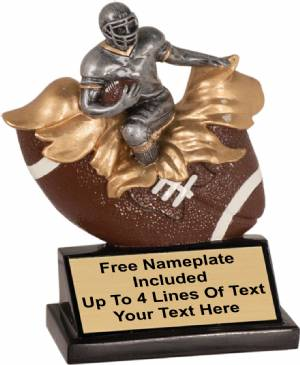 "5 1/4"" Male Football Explosion Trophy Hand Painted Resin"