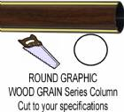 Round Walnut Finish Graphic Trophy Column - Cut to Length