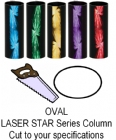 Oval Laser Star Trophy Column - Cut to Length