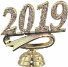"2 1/2"" Gold ""2019"" Year Date Trophy Trim Piece"