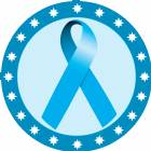 "2"" Light Blue Awareness Ribbon Trophy Insert"