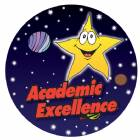 "Academic Excellence 2"" Color Trophy Insert"