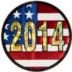 "2"" US Flag 2014 Holographic Mylar Trophy Insert"