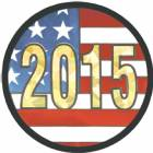"2"" US Flag 2015 Holographic Mylar Trophy Insert"