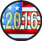 "2"" US Flag 2016 Holographic Mylar Trophy Insert"