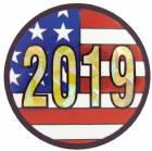 "2"" US Flag 2019 Holographic Mylar Trophy Insert"