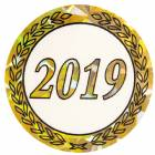 "2"" Hologram 2019 Year Mylar Trophy Insert"