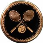 "2"" Tennis Metal Trophy Insert"