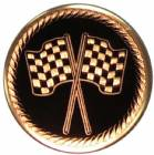 "2"" Checkered Race Flag Metal Trophy Insert"