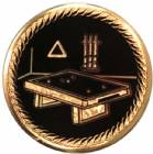 "2"" Billiards Metal Trophy Insert"