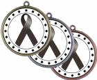 "Black Ribbon Awareness 2 1/4"" Award Medal"