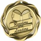 "3"" Readers are Leaders - Fusion Series Award Medal Gold"