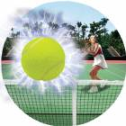 "Female Tennis 3D Graphic 2"" Insert"