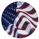"American Flag 2"" Holographic Insert"