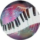 "Piano 2"" Holographic Insert"