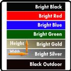 Anodized Aluminum 7 Colors - Blank - Cut to Size