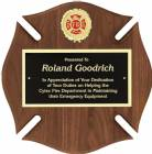 12 x 12 Walnut Maltese Cross Plaque with Engraving