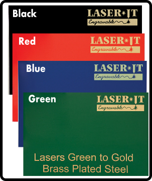 "12"" X 24"" Sheet Laser-IT Brass Plated Steel 4 Colors"