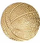 Gold Basketball Lapel Chenille Insignia Pin - Metal