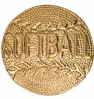 Gold Softball Lapel Chenille Insignia Pin - Metal