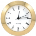 "1 1/2"" Brass Bezel Clock for Plaques and Projects"