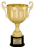 "13 1/4"" Gold Metal Cup Trophy"